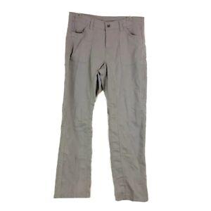 Kühl Womens sz 10 Short Outdoor Pants Gray Hiking Activewear Pockets Zip Up