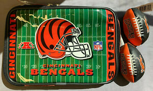 Cincinnati Bengals Insulated Soft Sided Lunch Box with 2 Hacky Sacks Kick Balls
