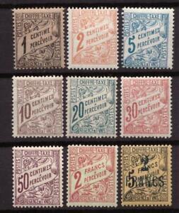 Tunisie - Taxes type Duval - Lot de 9 timbres neufs ** - cote 24,5 €