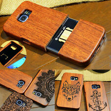 2017 New 100% Natural Wooden Wood Bamboo Phone Case Cover for Samsung GALAXY