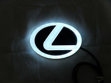 NEW Backlit Chrome &  WHITE LED Oval Badge Emblem Lamp For LEXUS™ Free Ship