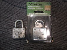 2 vintage Master Wrought Steel lock No 66-D 1 new in package
