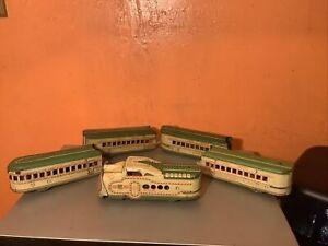 Marx Pre War Union Pacific M-10000 Streamliner Engine Passenger Cars Restoration