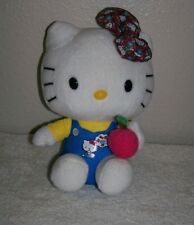TY BEANIE BABIES HELLO KITTY w/apple in hand PLUSH TOY 6""