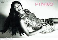 PUBLICITE ADVERTISING 066  2012  Pinko  haute couture (2p) Naomi Campbell