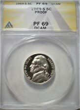 1969 S Jefferson Nickel ANACS Certified PF 69 DCAM