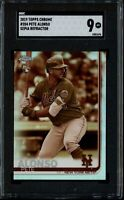 2019 Topps Chrome Sepia Refractor #204 Pete Alonso RC Rookie - SGC 9 - Mets