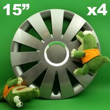 "Radkappen 15"" BEAT ★4 Stück ★ GRAPHIT SEAT Ibiza Leon Toledo VW Bora Golf Jetta"