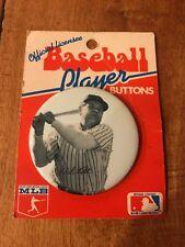 RARE BABE RUTH BASEBALL PLAYER BUTTON PIN STILL IN ORIGINAL PACKAGE MLB