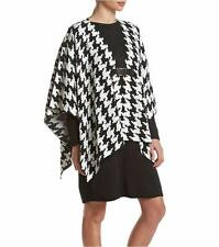 NINA LEONARD® Size M Houndstooth 2-Piece Poncho Sweater Dress NWT $98