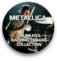 METALLICA MP3 ROCK DRUMLESS DRUMS BACKING TRACKS COLLECTION ON CD