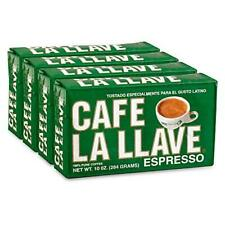 Café La Llave Espresso, 100% Pure Coffee, Dark Roast Ground Coffee (4 x 10