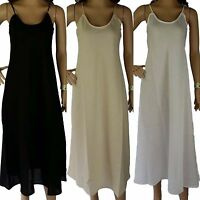 3 for $99 NEW Long COTTON SLIPS Size 12 14 16 18 20 Quality Petticoat Full Slip