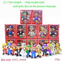 """Gifts Box+5""""High Quality Super Mario Bros Luigi Mario Action Figures Toys 2019"""