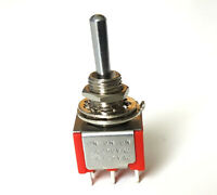 Mini Togle Switch DPDT 3 position On-On-On EP-4180-010 Chrome