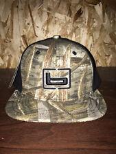 Banded Fitted Flat Bill Ball Cap Hat MAX 5 Camo W/BLACK Back Headwear OSFM NEW!