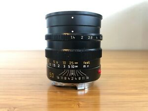 Leica 50mm f/1.4 Summilux-M lens (pre-ASPH, black, 11868)