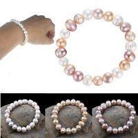 8mm Irregular Natural Freshwater Pearl Bracelet Women's Fashion Jewelry Gift
