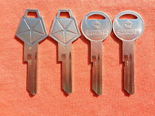 4 NEW DODGE PLYMOUTH CHRYSLER MOPAR LOGO NOS KEY BLANKS 320514 - 320433