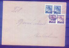 Böhmen und Mähren Bedarfsbrief mit MiF Michel Nr. 21(2) + 55(2)