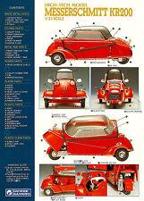 Messerschmitt KR 200 1/24th Scale Model Parts Sheet 8 x 10  Giclee print