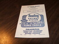 1958 READING COMPANY PHILADELPHIA-POTTSVILLE PUBLIC TIMETABLE