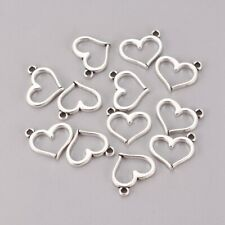 50 Perlenherzen 11 mm weiß einseitig glänzend Herzen Perlen Streudeko Hochzeit