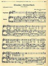 Kinderschlaflied von Wilhelm Kienzl Op.70 Nr.3 Graz Historical Memorabilia 1912