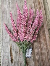 Üppige Erika Rosa Flieder pink 24 Stiele Pflanze Blume Strauß Busch Kunstblume