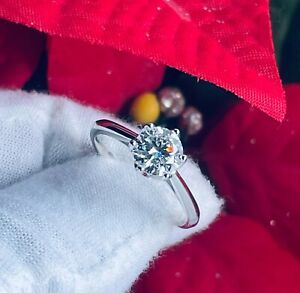 Certified 1.0 Ct. Moissanite Brilliant Adjustable Size 6-10 Ring + Free Gift