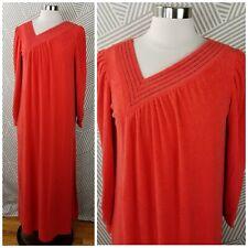 Vintage 60s 70s Medium Terry Cloth Pullover Bath Robe Kaftan Patio House Dress
