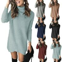 Women's Sexy Party Long Sleeve Sweater Dress Ball Gown Evening Casual Dresses