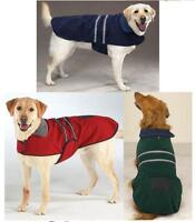 FLEECE REFLECTIVE Dog Pet Barn Coat JACKET Warm Soft Casual Canine Misc Sizes