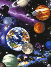 Space Solar System Planets Universe Stars Moons Timeless Treasures Cotton C4117