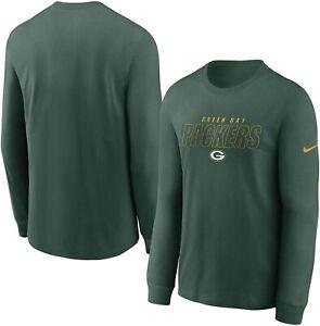 Green Bay Packers Nike Youth Boys Playbook Long Sleeve Shirt - Green
