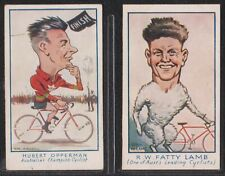 Turf Virginia Cigarettes - 1933 Cycling Stars - No. 80 & 81 Opperman & Lamb
