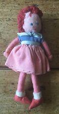 PETITE ANCIENNE VINTAGE 1940/50s Handmade caractère feutre poupée 1