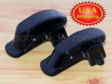 Black Rear Frame Axle Covers For Harley Dyna Super Glide FXDL FLD FXD Fat Bob US