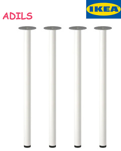 (4) Legs  ADILS Leg | IKEA 902.179.72 | WHITE | New Fits Any Table Creation