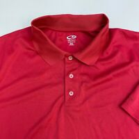 New Champion Polo Shirt Mens XXL Red Short Sleeve Casual Golf Polyester