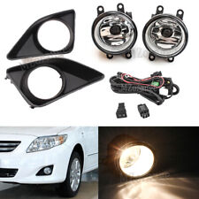 For 2008 2009 2010 Toyota Corolla Clear Bumper Driving Fog Lights+Switch+Harness