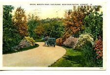 Bridal Wreath Road-Old Car-Shelburne-near Burlington-Vermont-Vintage Postcard