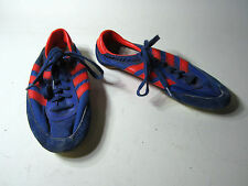 vtg adidas Apollo Blue Orange 1980s Cleat Spiked Track Run Shoes Retro sz 4