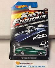 '72 Ford Grand Torino Sport * GREEN * Fast & Furious Hot Wheels * D21