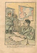 Caricature Politique Hermann Göring/Goering Luftwaffe ministre  l'Air WWII 1939