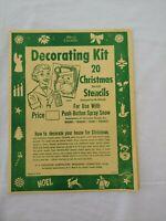 Vintage Decorating Kit 20 Christmas Die Cut Stencils for Spray Snow -M. Pittorie