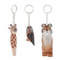Holztiere Schlüsselanhänger Handtaschenanhänger Taschenanhänger