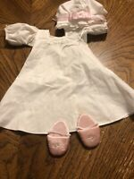 American Girl Elizabeth Nightgown & Slippers EUC RETIRED Complete Set