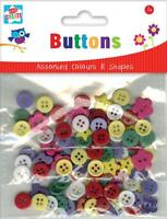 Kids Create BUTTONS Assorted Colours & Shapes  Arts and Crafts