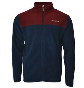 LAMBRETTA mens fleece jacket top full zip sweater NEW navy/red  S M L XL XXL
